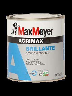 Max Meyer Acrimax Smalto Brillante Acrilico all'Acqua colore Bianco 0,750 Lt