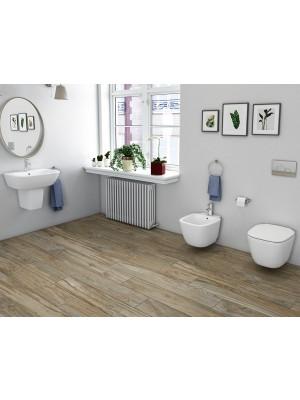 Set bagno completo bidet, vaso e sedile coprivaso RAK serie One sospeso