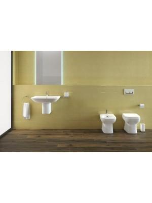 Set bagno completo bidet, vaso e sedile coprivaso RAK serie Origin a pavimento