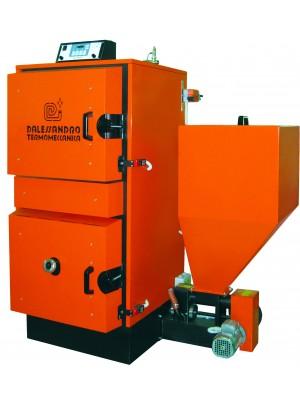 Caldaia a biomassa e legna a gassificazione a fiamma inversa per riscaldamento e produzione acqua calda D'Alessandro CLP 30 kW