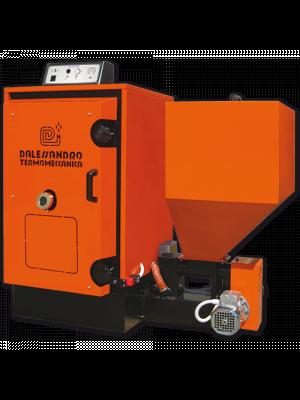 Caldaia a biomassa per alimentazione impianto di riscaldamento e produzione acqua calda sanitaria D'Alessandro CS SMALL (2018) da 30kw