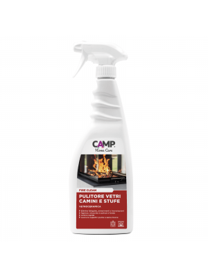 Camp Fire Clean Detergente sgrassante per camini, stufe e vetroceramico 750 ml Spray