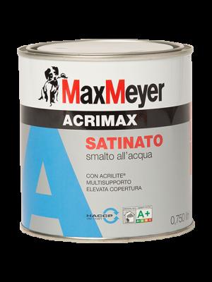 Max Meyer Acrimax Smalto Satinato Acrilico all'Acqua colore Bianco 0,750 Lt