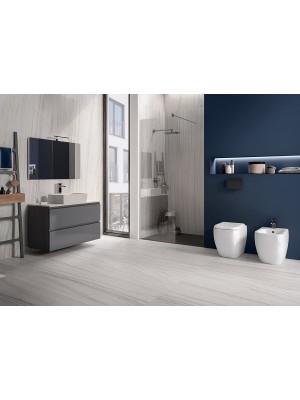 Set bagno a pavimento bidet, vaso e sedile coprivaso RAK serie Metropolitan