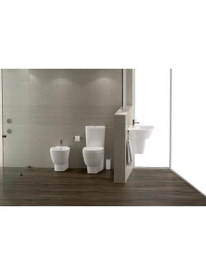 Set bagno completo bidet, vaso e sedile coprivaso RAK serie One a pavimento
