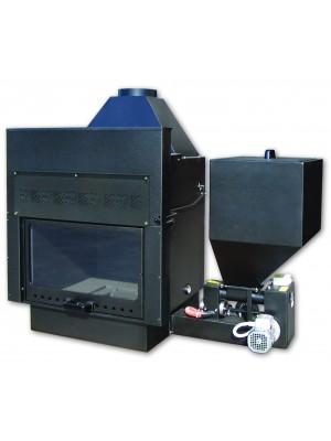 TERMOCAMINO A BIOMASSA per impianti di riscaldamento D'Alessandro CLS-P 33 kW