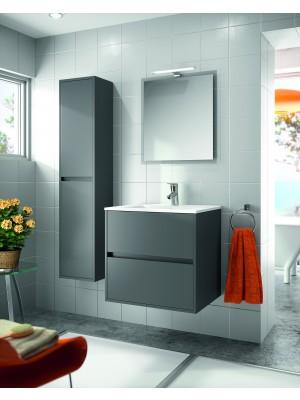 Mobile da bagno sospeso da 100 cm serie Noja grigio opaco